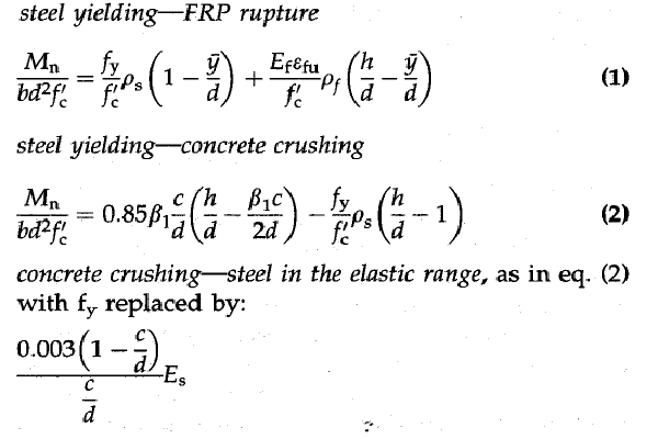 معادلات التصمیم للإنحناء