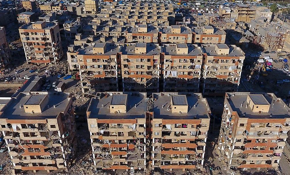 نمایی از زلزله کرمانشاه