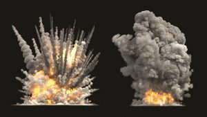 concrete structure+explosion+afzir