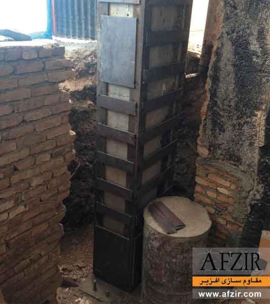 تقویت و افزایش باربری ستون بتنی با ژاکت فولادی - مقاوم سازی ساختمان