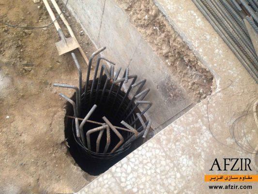 بهسازی خاک ساختمان کج شده با شمع- مقاوم سازی ساختمان