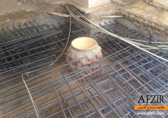 مقاوم سازی ساختمان کج شده - بهسازی خاک