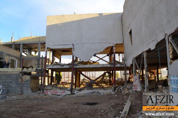 خرابی و گسیختگی ساختمان فولادی تحت اثر زلزله - مقاوم سازی ساختمان