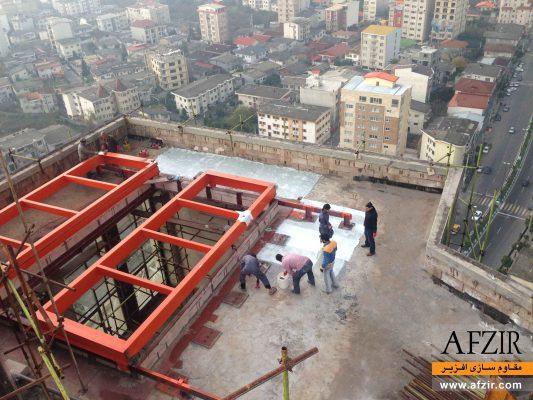 مقاوم سازی دال بتنی و تقویت ممان منفی از کف با الیاف FRP- مقاوم سازی ساختمان