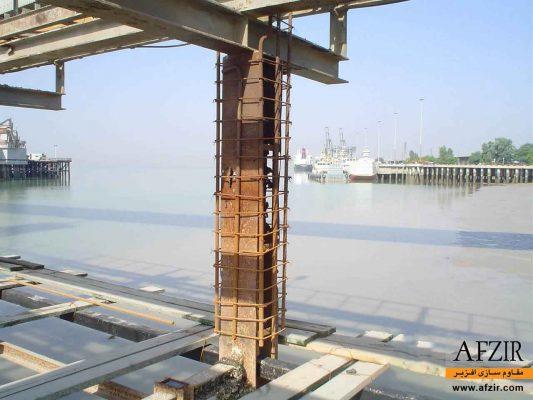 افزایش ظرفیت باربری ستون با ژاکت بتنی- مقاوم سازی ساختمان