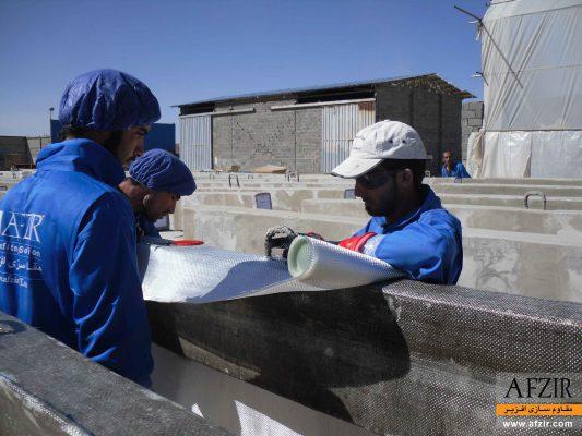 افزایش ظرفیت و بهسازی تیر بتنی با FRP-مقاوم سازی ساختمان