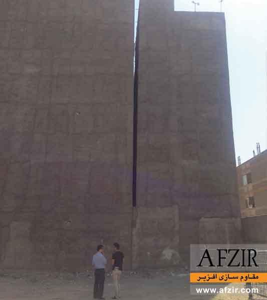 بهسازی خاک در ساختمان کج شده