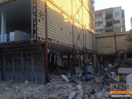 خرابی و کمانش ستون فولادی تحت زلزله