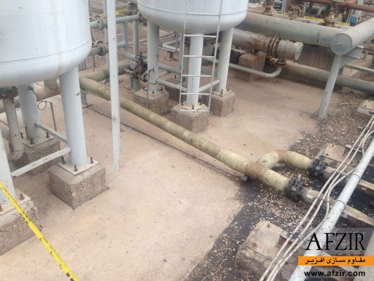 مقاوم سازی و بهسازی لوله های نفت و گاز با الیاف FRP