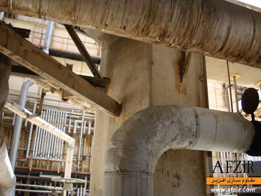 مقاوم سازی لوله های فولادی با FRP