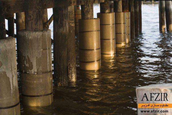 پوشش حفاظتی سکوهای دریایی بتنی