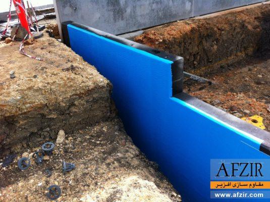 آب بندی دیوار حائل یا لایه ژئوممبرین برای جلوگیری از نفوذ آب