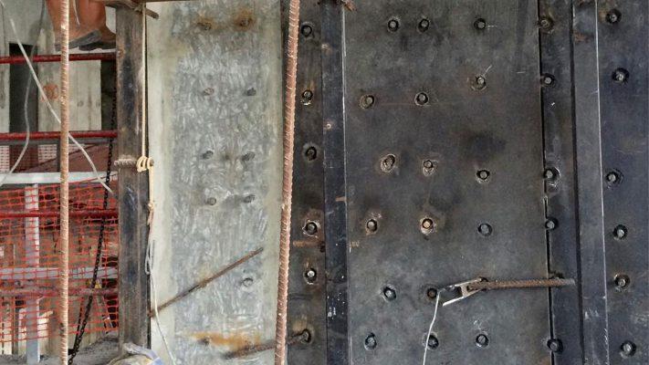 مقاوم سازی دیوار برشی با ژاکت فلزی
