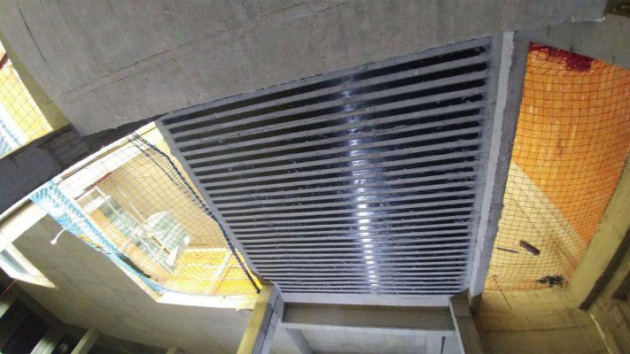 مقاوم سازی دال بتنی ساختمان تجاری با لمینیت FRP