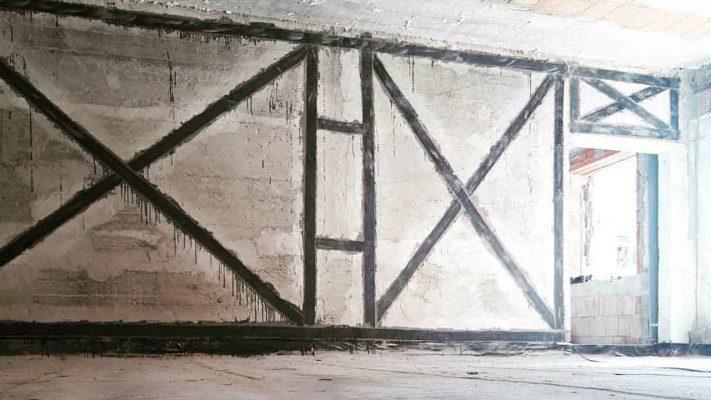 مقاوم سازی دیوار مصالح بنایی با الیاف FRP