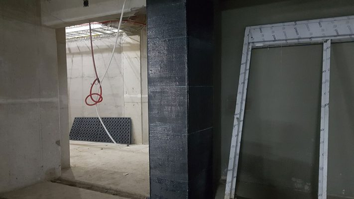 مقاوم سازی ستون بتنی ساختمان اداری با الیاف FRP