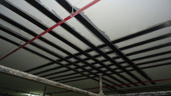 مقاوم سازی دال بتنی ساختمان اداری با لمینیت FRP