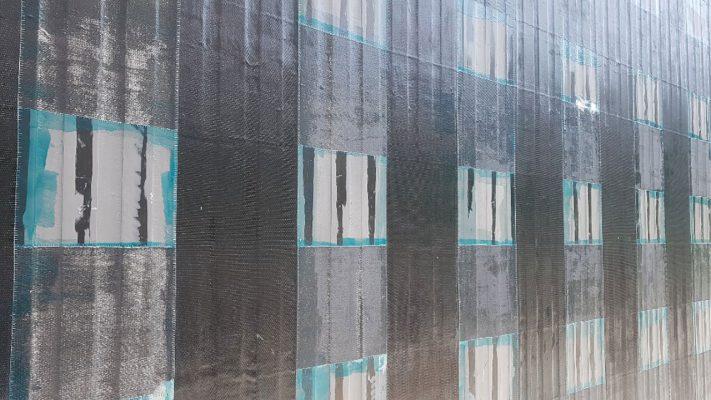 مقاوم سازی دیوار برشی با الیاف و لمینیت FRP